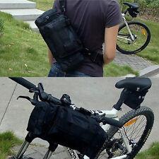 New Multifunction Cycling Bike Bicycle Waist Pack Shoulder Handlebar Bag Black
