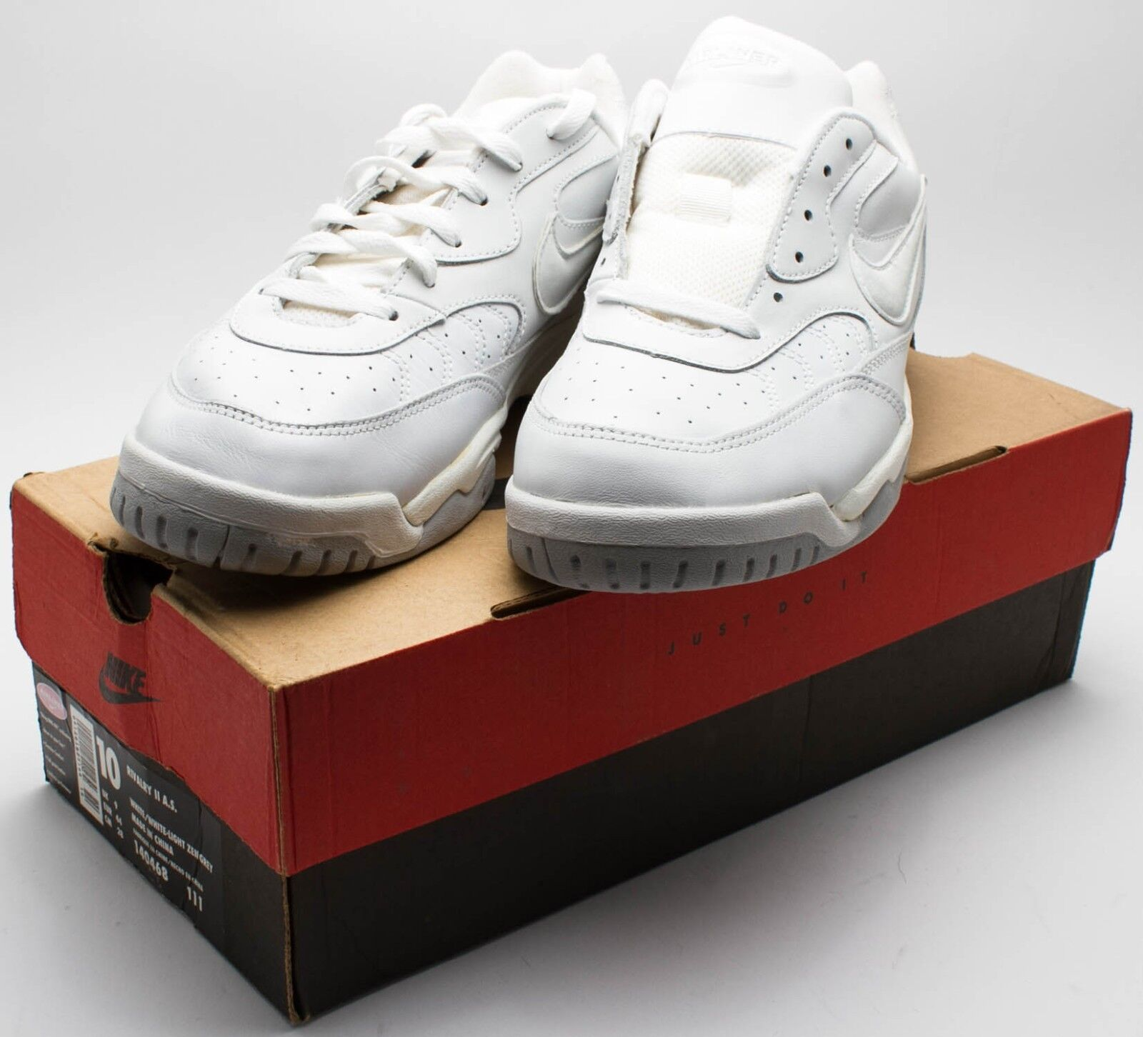 Nike homme OG Vintage 1998 Air Rivalry  II A.S. blanc/ Gris  Rivalry 140468-111 Sz 10 c15588