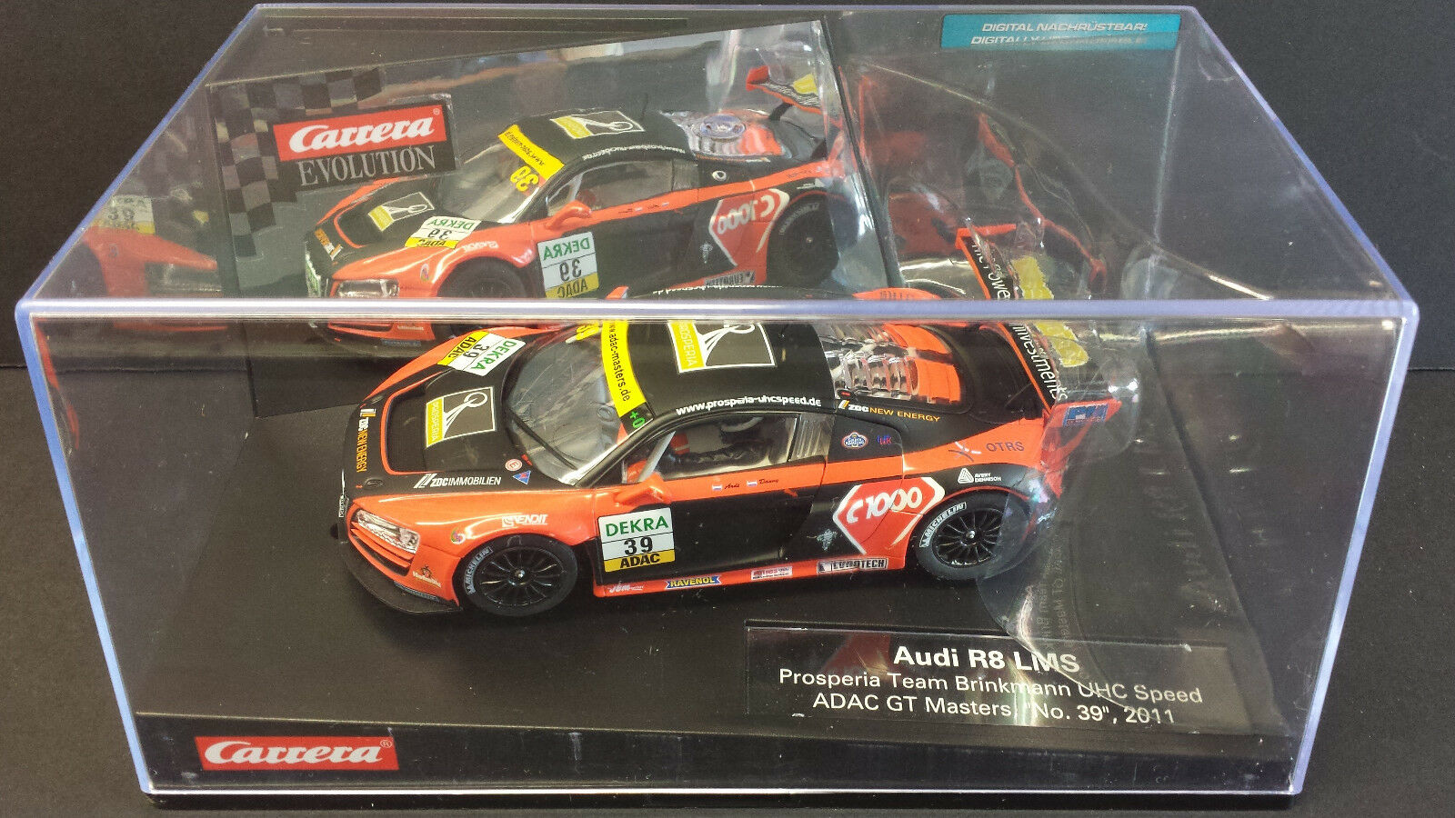 CARRERA EVO 27395 AUDI R8LMS ADAC GT MASTERS SCALEXTRIC COMPATABLE..