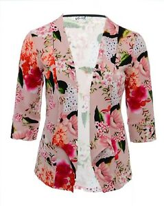 Ladies Womens Zip Front Poncho Floral Blossom Top UK Plus Sizes 16-26