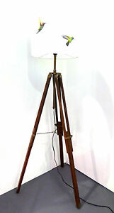 Dark wooden tripod floor lamp base only adjustable legs free pp image is loading dark wooden tripod floor lamp base only adjustable mozeypictures Gallery