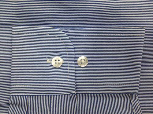 $94 Club Room Men/'S Regular-Fit Blue Stripe Long-Sleeve Dress Shirt 15.5 34//35 M