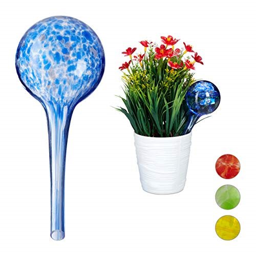 Relaxdays Globes, Regulated Irrigation for Plants and Flowers, Office & Holiday