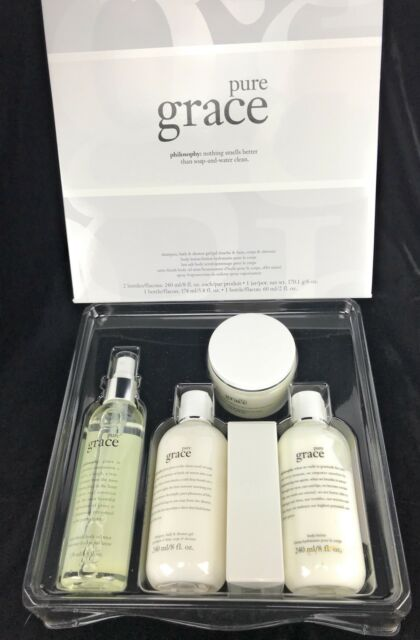 Pure Grace By Philosophy 5 Piece Fragrance Grace Gift Set QVC