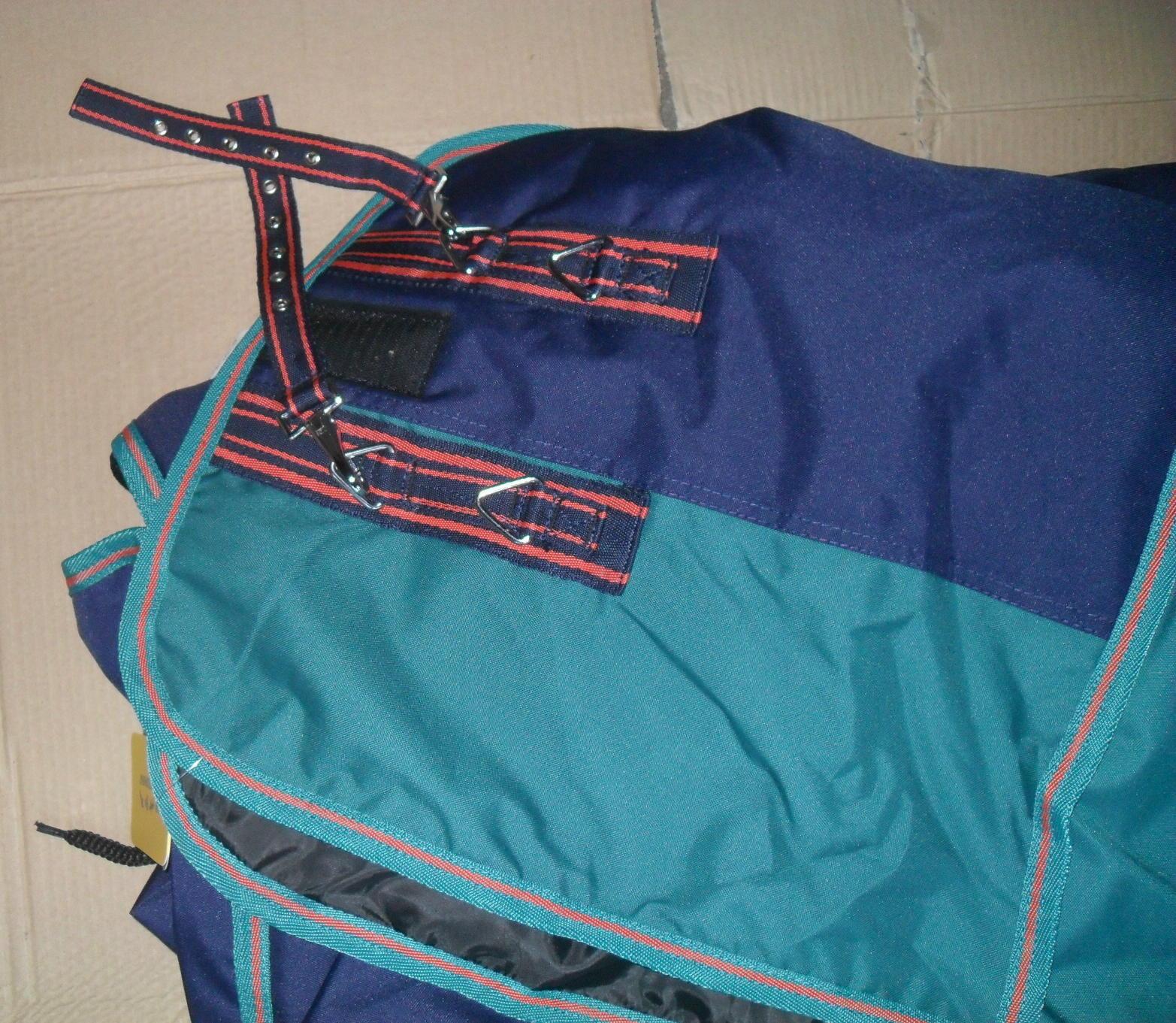 Weidedecke Fullneck 400 gr gr gr  Wattefüllung navy petrol dunkelblau dunkelgrün  8330 bb19ee