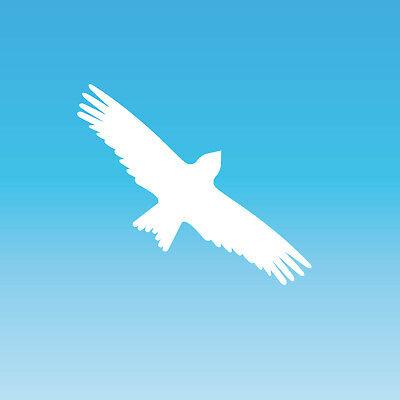 Sinnvoll Warnvogel Aufkleber 20cm Weiß Milan Vogel Schreck Fenster Schutz Deko Folie
