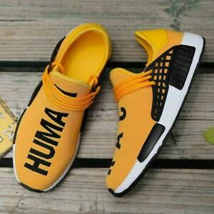 big sale 7682a 6e54c Details about Human Race Sport Running Shoes Top Athletic Mens Sneakers  High Quality Yellow 10