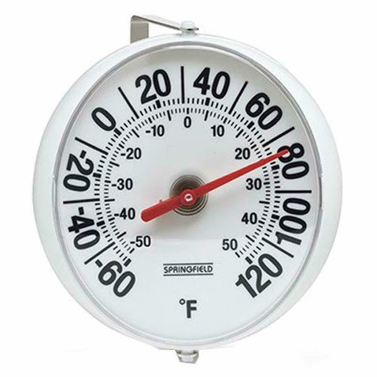 Decor Wall Large Weatherproof Round Thermometer Indoor Outdoor Patio 5.25 inch