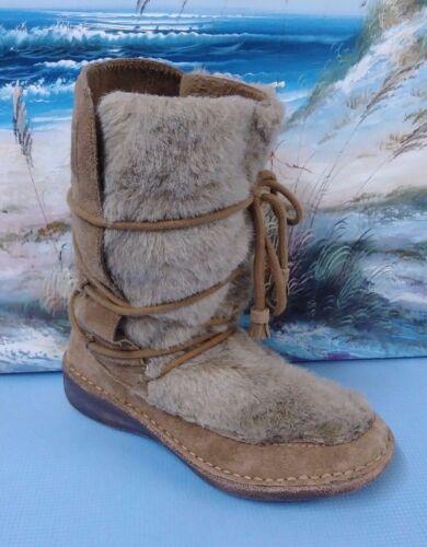 NINE WEST Winter Boots Size 8.5 M Lace Up