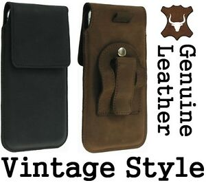 FLAP-GENUINE-LEATHER-HOLSTER-BELT-CLIP-POUCH-CASE-FOR-MOBILES-RANGE-OF-MODELS