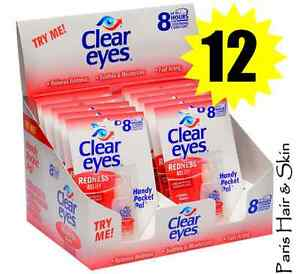 CLEAR EYES  DROPS 12 PACK REDNESS RELIEF 12 HOURS relief 0.2oz / 6ML Exp 2019 300742541282
