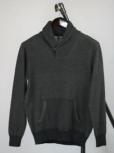 J.CREW Men MEDIUM Kangaroo Pocket Shawl Neck Cotton Sweater / Pullover RCS12433_