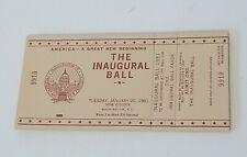 *RARE* 1981 President Ronald Reagan Inaugural Ball Ticket /& Invitation MINT!