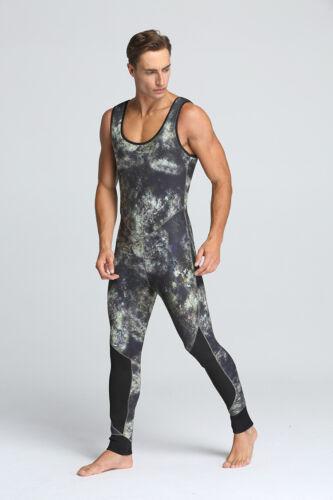 5mm Men Diving suit Camouflage Neoprene Scuba Dive Wetsuit 2 Piece Jackets Pants