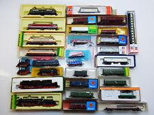 45022 | Konvolut 10 Loks E-Loks Dampfloks 20 Wagen Güterwagen Spur N an Bastler
