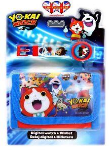 Yo-Kai-Digital-Watch-amp-Wallet-Children-Watch-Kids-Watch-Official-Licensed-Gift-Set