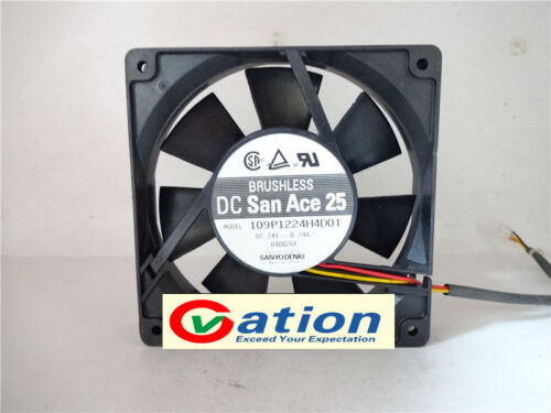 for Sanyo 109P1224H4D01 fan 120*120*25mm 3pin 24V 0.24A