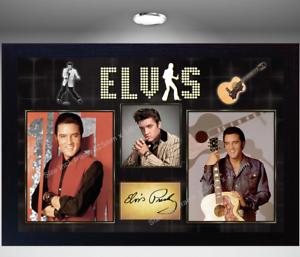 Elvis-Presley-signed-autograph-Music-Art-print-poster-Framed