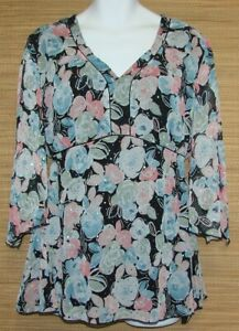 Dressbarn-Woman-Plus-Size-22-24-Elegant-Sparkly-amp-Floral-Pullover-Top