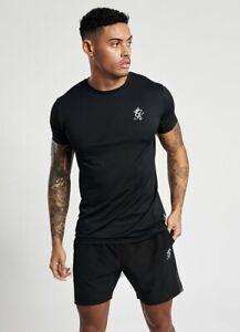 Gym-King-Mens-New-Short-Sleeve-Crew-Neck-Sport-Energy-T-Shirt-Black