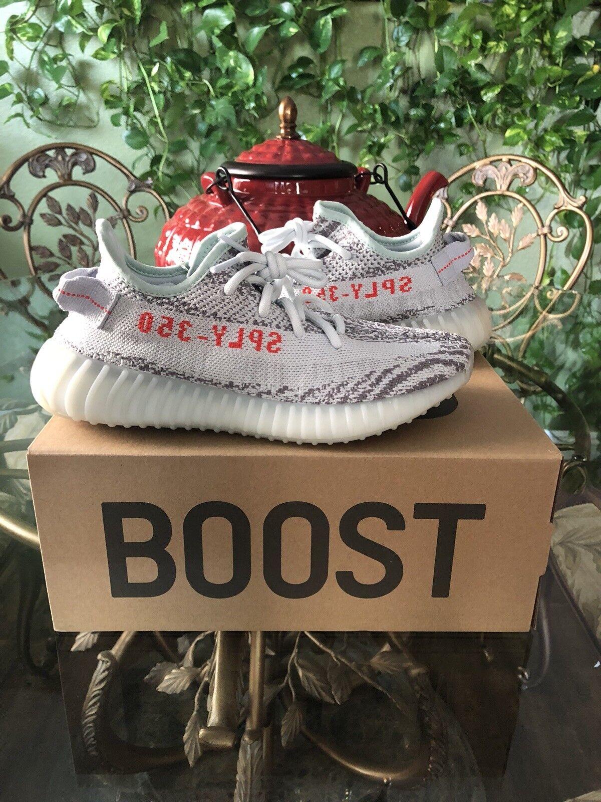 100% Authentic Adidas Yeezy Boost 350 V2 bluee Tint Kanye