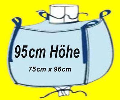 * 2 Stück Big Bag 95 Cm Hoch - 75 X 96 Cm - Bags Bigbag Fibc 1000kg Traglast Ausgezeichnet Im Kisseneffekt
