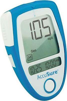 Accu Sure Blood Sugar Glucose Check Monitor + Free 25 Strips AccuSure