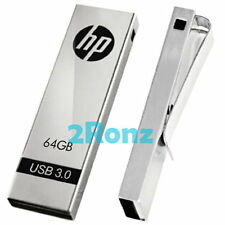 HP x710w 64GB 64G USB 3.0 Flash Drive Disk Thumb Stick Memory Clip Metal Sliver