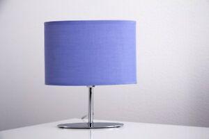 Lampada Scrivania Viola : Bajour metallo cromo tessuto viola lampada da tavolo da comodino