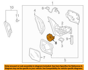 Genuine Acura 76210-STX-H03 Side View Mirror Actuator Assembly