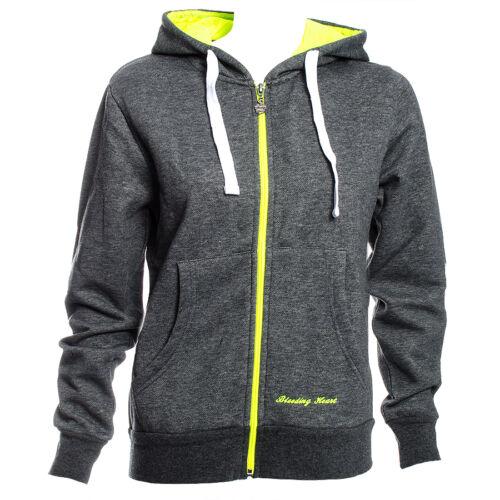 """- Medium Grey//Green 36/"""" RRP £24.99 Bleeding Heart Hoodie Jacket"""