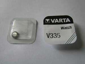 1x V335 Silber-Oxid Uhrenknopfzelle Batterie 1,55V SR512SW Varta