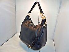 Michael Kors Fulton Lg Top Zip Shoulder / Hobo Bag Pebbled Leather Black -328.00