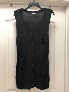 Perse Sweater Størrelse New James 516 Buttoned Cashmere Cardigan Charcoal Vest 4 Fw57Bqn5