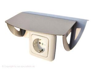 schutzdach f r steckdose taster garten au enbereich aufputz stecker ip44 ip20 ebay. Black Bedroom Furniture Sets. Home Design Ideas
