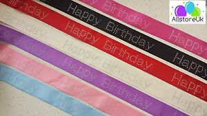 7-Colours-Diamante-Happy-Birthday-Cake-Craft-Cut-Satin-Ribbon-40mm-4cm-Wide