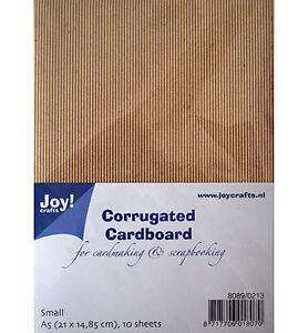 Corrugated-Cardboard-Wellpappe-Wellkarton-braun-A5-10-Stueck-JoyCrafts-8089-0213