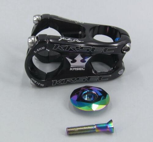 KRSEC Aluminum Stems 28.6*31.8*50mm MTB road XC Bike Short Stem /& Top cap Black