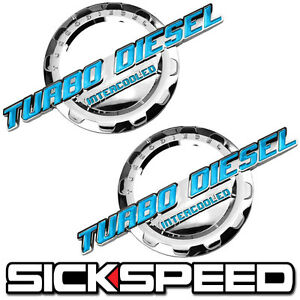 CHROME//BLACK TURBO DIESEL ENGINE MOTOR BADGE FOR TRUNK HOOD DOOR TAILGATE BED C