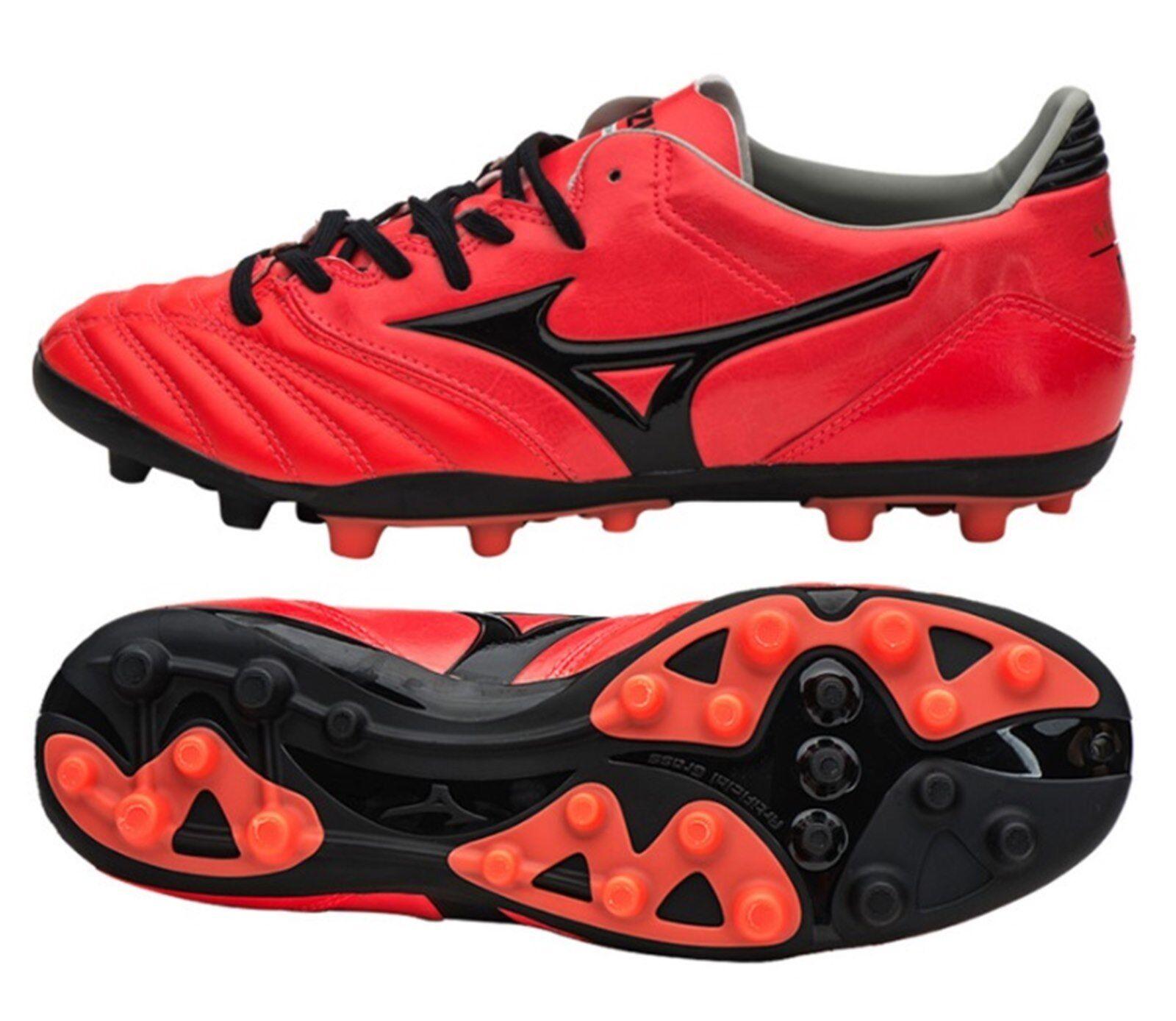 Hombre Mizuno Morelia Neo KL Botines De Fútbol Fútbol Zapatos Rojos AG Spike P1GA175761