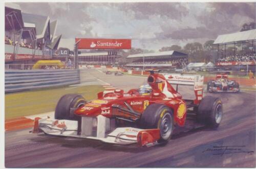 Formule 1 one F1 moteur FERRARI RACING CAR Fernando Alonso Vide Carte D/'Anniversaire
