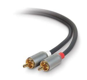 BELKIN Pure AV High Quality Dual-RCA Audio Cable AV20302-06'ft M-M NEW