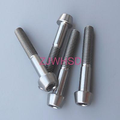 4pcs M5x35 Titanium Ti Screw Bolt Allen hex Taper Socket Cap head/AerospaceGrade