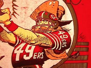 San Francisco 49ers Vtg Youth Med Tee Jack Davis Art T Shirt Mad
