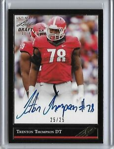 2018-Leaf-Ultimate-Draft-TRENTON-THOMPSON-034-1991-034-Gold-Foil-Auto-RC-25-25-Browns