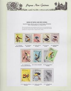 1964-1965-PNG-PAPUA-NEW-GUINEA-Birds-STAMP-SET-K-408
