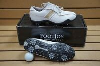 Women's Size 5.5m Footjoy Lopro Collection Golf Shoes White/beige 138423 on sale
