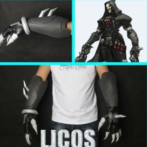 Handmade Overwatch Reaper OW Cosplay Costume Gloves Hand Armor Props newest