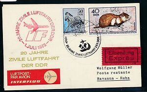97425) Rda, Coursier So-carte If Ff Berlin-la Havane 3.7.75-afficher Le Titre D'origine