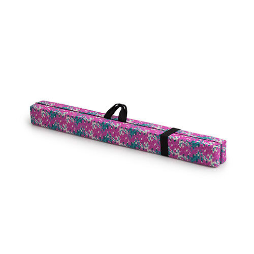 Pink Emerald Geometric Print Gymnastics Folding Balance Beam Training Equipment
